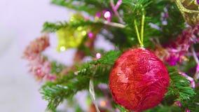 Gesamtlänge des Tannenbaums für die chirstmas dekorativ stock video