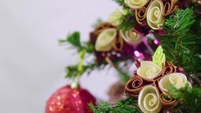 Gesamtlänge des Tannenbaums für die chirstmas dekorativ stock video footage
