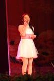 Gesang in der Bühnenshow in der Show des neuen Jahres Lizenzfreie Stockfotos