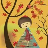 Gesang im Herbst stock abbildung