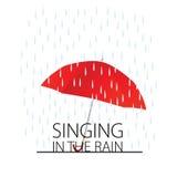 Gesang im Regen Lizenzfreies Stockfoto