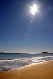 Gesang-Strand-Sonnenuntergang Lizenzfreie Stockfotos