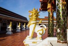 Gesangstatue bei Wat Phra That Choom Chum, Sakon Nakhon Lizenzfreies Stockbild
