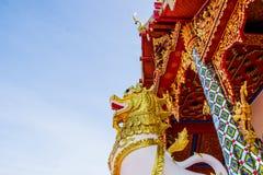Gesangstatue bei Wat Phra That Choom Chum, Sakon Nakhon Lizenzfreie Stockfotos