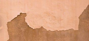 Geschädigte gemalte beige Wand-Fahnen-Hintergrund-Beschaffenheit Browns alte Stockfotos