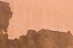 Geschädigte gemalte beige Wand-Hintergrund-Beschaffenheit Browns alte Lizenzfreies Stockbild