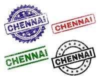 Geschädigte strukturierte CHENNAI-Stempelsiegel stock abbildung