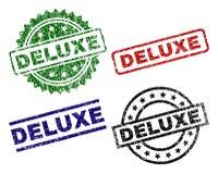 Geschädigte strukturierte DELUXE Siegelstempel lizenzfreie abbildung