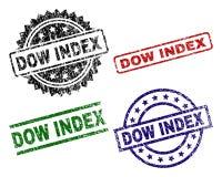 Geschädigte strukturierte Dow-INDEX Siegelstempel stock abbildung