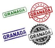 Geschädigte strukturierte GRANADA-Stempelsiegel lizenzfreie abbildung