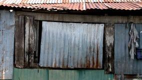 Geschädigter gewölbter Metalloberflächen-Hintergrund Lizenzfreies Stockfoto