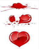 Geschädigtes menschliches Herz lizenzfreie abbildung