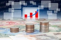 Geschäft ökonomisch und Finanzierung stockfoto