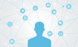 Geschäft abstraktes Sozial-conection Stockfotos