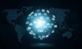 Geschäft abstraktes Sozial-conection Lizenzfreies Stockbild