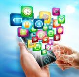 Geschäft auf Mobile Stockfotos