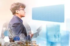 Geschäft auf Technologie stockfotos