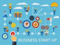 Geschäft beginnen oben infographics Schablone Vektor Lizenzfreies Stockfoto