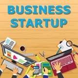 Geschäft beginnen oben Konzept Lizenzfreies Stockbild