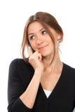 Geschäft Brunettefrau, die am Telefon spricht Stockbild