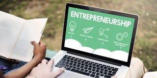 GESCHÄFT Crowdfunding Startcrowdsourcing-Zusammenarbeits-Grafik stockbild