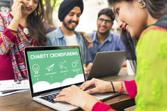 GESCHÄFT Crowdfunding Startcrowdsourcing-Zusammenarbeits-Grafik Lizenzfreie Stockfotografie