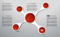 Geschäft 3D infographics Infographic auf Kreisform Lizenzfreie Stockbilder