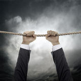 Geschäft, das in einer Luft hängt Lizenzfreies Stockbild