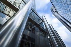 Geschäft, das London errichtet Stockfotografie