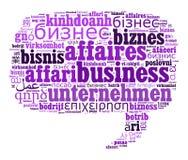 Geschäft in den verschiedenen Sprachen Stockfoto