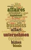 Geschäft in den verschiedenen Sprachen Stockbild