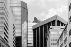 Geschäft in Denver im Monochrom Stockfotos