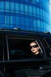 Geschäft in der Limousine Lizenzfreie Stockbilder