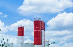 Geschäft der Zementfabrik stockfotos
