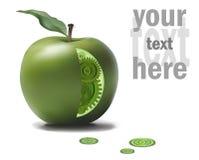Geschäft Eco-Gang-Ideen-Mechanismus in grünem Apple Natürliche Lösungs-Konzept-Vektor-Illustration Lizenzfreies Stockbild