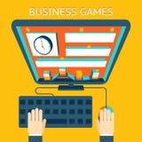 Geschäft gamification Verdienen des Geldes als Spiel Lizenzfreie Stockfotos