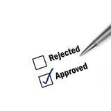 Approverd Papier Lizenzfreie Stockfotos