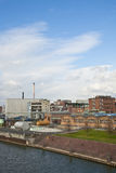 Geschäft - Heftklammer-Stadt-Skyline Lizenzfreie Stockfotos