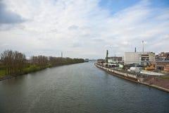 Geschäft - Heftklammer-Stadt-Skyline Lizenzfreies Stockfoto