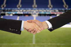 Geschäft im Sport des Fußballs Lizenzfreie Stockfotos