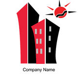 Geschäft im Stadt Logo Lizenzfreies Stockbild