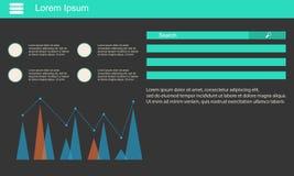 Geschäft Infographic-Datendesign und -graphik Stockfotografie