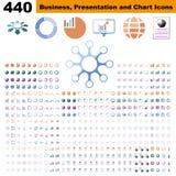 Geschäft infographic, Diagramm-, Darstellungs-, Berichts- und Sichtbarmachungselemente mit Farbe lizenzfreie abbildung