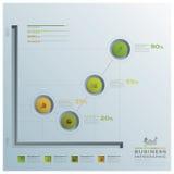 Geschäft Infographic-Diagramm-Kreis Lizenzfreies Stockfoto