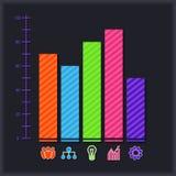 Geschäft infographic mit Diagramm und Ikonen Stockbilder