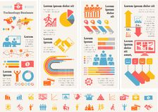 Geschäft Infographic-Schablone. Lizenzfreies Stockbild