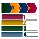 Geschäft Infographic-Schablone für Schritt und Prozess Lizenzfreies Stockfoto