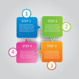 Geschäft Infographics-Art Vektorillustration Lizenzfreies Stockfoto