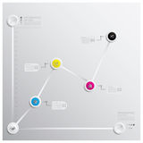 Geschäft Infographics-Design-Schablone Lizenzfreie Stockbilder