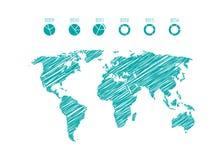 Geschäft infographics Elemente stock abbildung